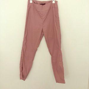 NY&Co Seventh Avenue mauve pull on dress pants